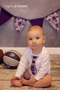 K-State tie onesie $10 short sleeve $12 long sleeve